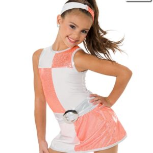 V2240  These Boots60s Themed Character Dance Costume Glo Orange