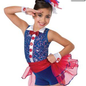 V2246Y  Yankee Doodle Sequin Tap Jazz Dance Costume