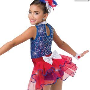 V2246Y  Yankee Doodle Sequin Tap Jazz Dance Costume Back