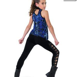 V2259Y  Mothership Flip Sequin Velvet Hip Hop Dance Costume Back