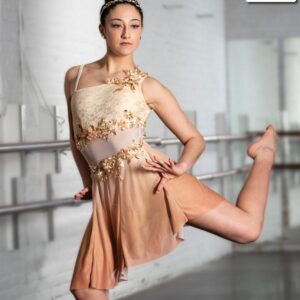 V2277Y  Chasing Pavements 2020 Floral Lace Lyrical Contemporary Dance Dress