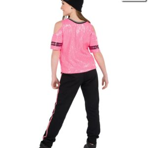 V2278Y  Youre The One Sequin Mesh Hip Hop Dance Costume Back