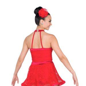 V2308Y  Swing Beats Jazz Tap Dance Dress Back