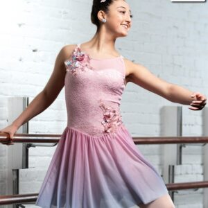 V2309Y  Verses Lace Ombre Mesh Lyrical Contemporary Dance Dress