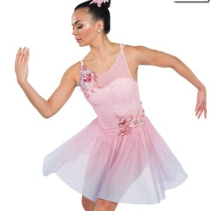V2309Y  Verses Lace Ombre Mesh Lyrical Contemporary Dance Dress Front