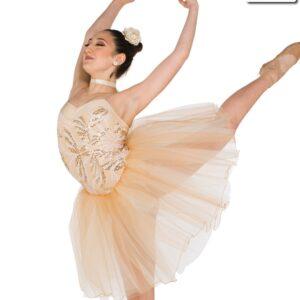 V2322  Vinales Embroidered Sequin Ballet Tutu Tan