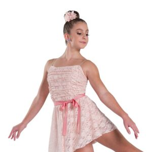 V2329  Someday Glitter Lace Lyrical Dance Dress Blush