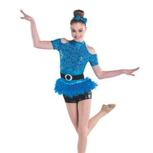 V2337  Dont Start Now Sequin Floral Lace Tap Jazz Dance Costume