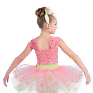 V2349  Dainty Kids Ballet Tutu Back