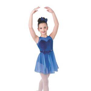 V2353  Fly To Your Heart Kids Lyrical Dance Dress Royal