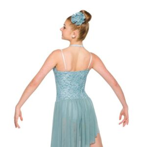 V2358Y  Sequin Floral Lace Lyrical Dance Dress Back