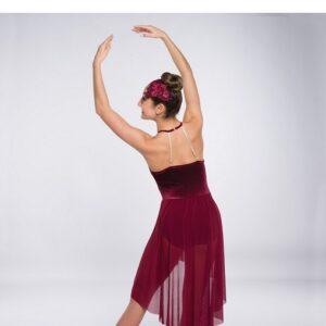 V2364Y  New Soul Velvet Mesh Lyrical Dance Dress Back