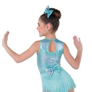 V2366Y  Wildest Dream Kids3in1 Jazz Tap Dance Costume Fringe Skirt Back