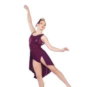 V2377  Let Dem Go Sequin Spandex Lyrical Dance Costume