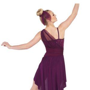 V2377  Let Dem Go Sequin Spandex Lyrical Dance Costume Back