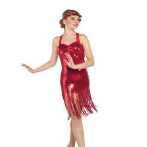 V2396Y  Millie Sequin Fringed Tap Jazz Dance Dress