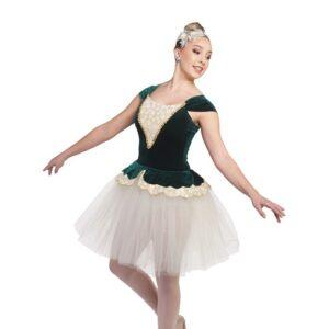 V2400Y  Canon Glitter Velvet Floral Ballet Tutu