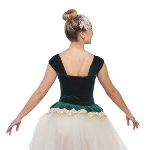 V2400Y  Canon Glitter Velvet Floral Ballet Tutu Back