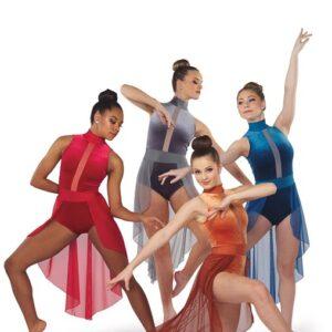 V2403  Velvet Lyrical Dance Costume