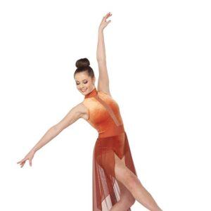 V2403  Velvet Lyrical Dance Costume Spice