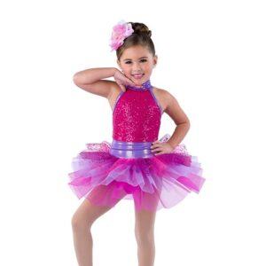 V2407  Just Gotta Be You Kids Sequin Spandex Tap Dance Costume