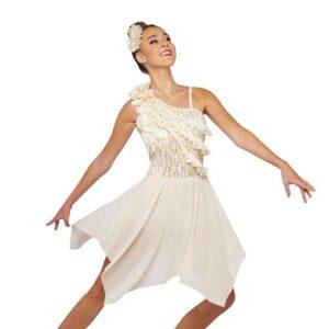V2412Y  Teach Me How Sequin Floral Lace Lyrical Dance Dress