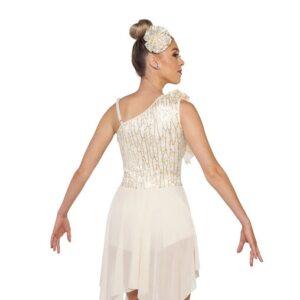 V2412Y  Teach Me How Sequin Floral Lace Lyrical Dance Dress Back