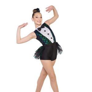 V2413Y  Crocodile Rock Sequin Velvet Hip Hop Dance Costume