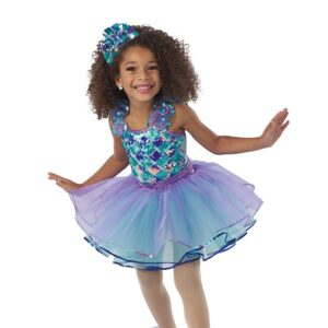 V2414Y  Standing There Kids Jazz Tap Dance Costume
