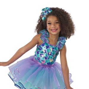 V2414Y  Standing There Kids Jazz Tap Dance Costume A