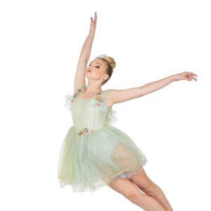 V2420Y  Fairy Lullaby Chiffon Floral Lyrical Contemporary Dance Dress