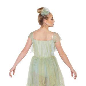 V2420Y  Fairy Lullaby Chiffon Floral Lyrical Contemporary Dance Dress Back