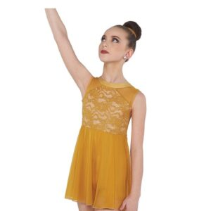 V2421  I Mean To Be Foil Lace Lyrical Dance Costume Spice