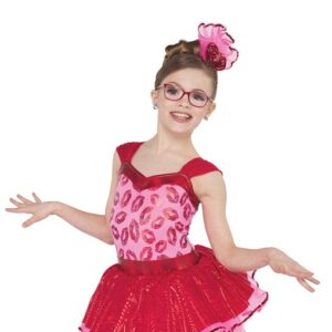 V2425  Crazy Little Thing Kids Jazz Tap Dance Costume A