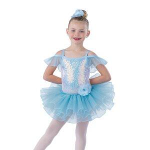 V2434  Pass Me By Kids Ballet Tutu Light Blue