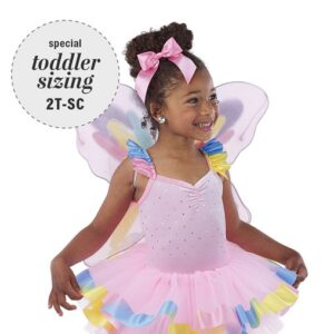 V2436  Butterfly Kisses Toddler Tap Dance Costume A