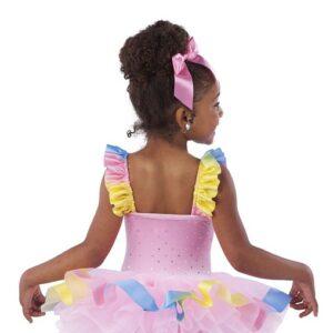 V2436  Butterfly Kisses Toddler Tap Dance Costume Back
