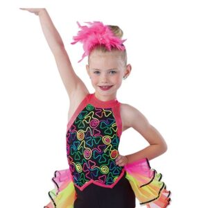 V2439  Off To The See The World Jazz Dance Costume A