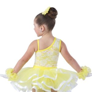 V2446 B Walking On Sunshine Kids Jazz Tap Dance Costume Back
