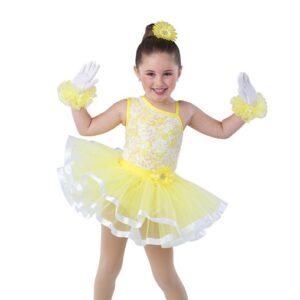V2446  Walking On Sunshine Kids Jazz Tap Dance Costume