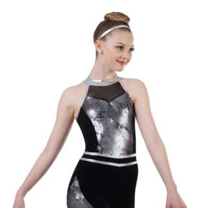 V2454  Aint Nothing Wrong Embroidered Sequin Tap Jazz Dance Shortall