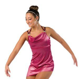 V2456  Shimmer Velvet Jazz Dance Dress