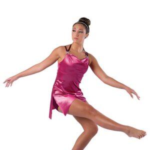 V2456  Shimmer Velvet Jazz Dance Dress Mauve