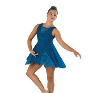 V2457  Floral Lace Lyrical Dance Dress