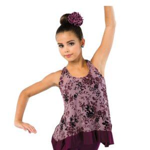 V2458  Ombre Floral Lyrical Dance Costume A