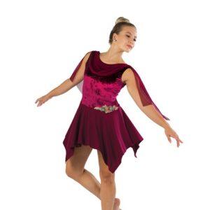 V2459  Crushed Velvet Lyrical Dance Dress