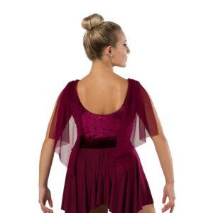 V2459  Crushed Velvet Lyrical Dance Dress Back