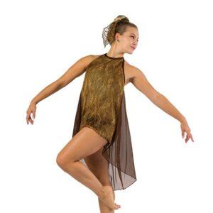 V2461  The Scientist Foil Tiedye Lace Lyrical Dance Costume