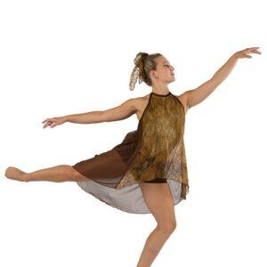 V2461  The Scientist Foil Tiedye Lace Lyrical Dance Costume A