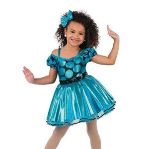 V2463  Foil Polka Dot Tap Dance Costume